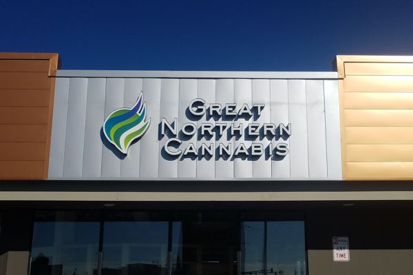 Great Northern Cannabis Channel Letter Sign