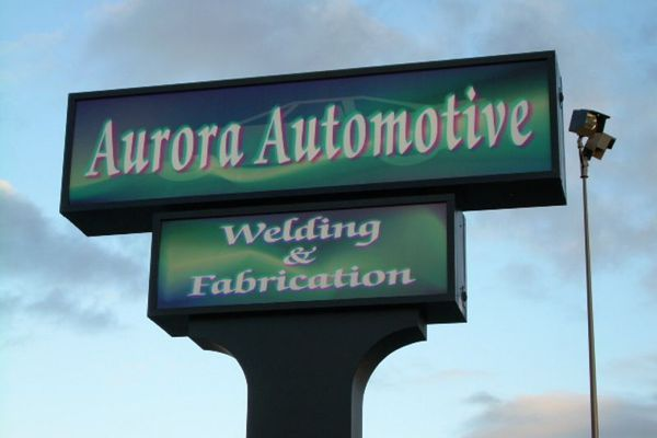 Aurora Automotive Sign Face