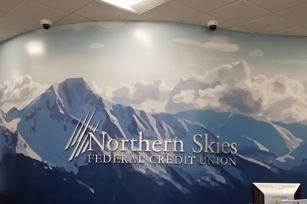 Mountains Curved Wall Mural