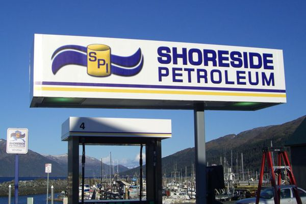 Shoreside Petroleul Gas Station Canopy
