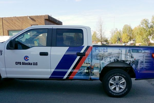 Vinyl Wrap Graphics on Crowley Pick-Up Truck