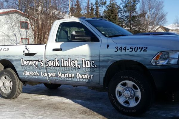Vinyl Wrap Graphics on Dewey's Pick-Up Truck