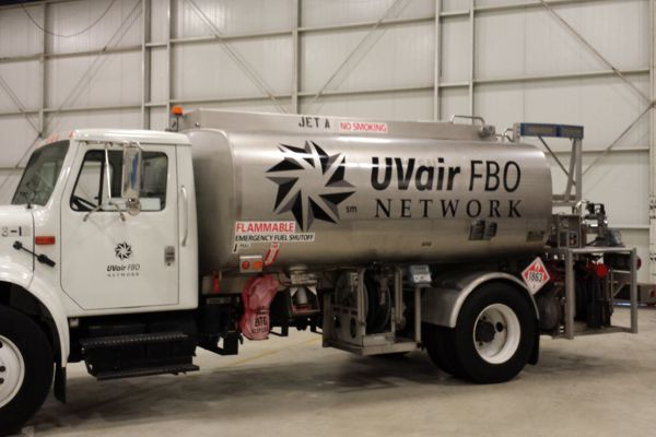 Vinyl Logo on UVair Tanker Truck