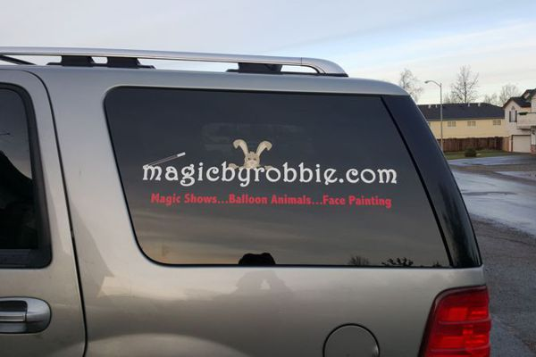 Vinyl Logo on SUV Rear Window